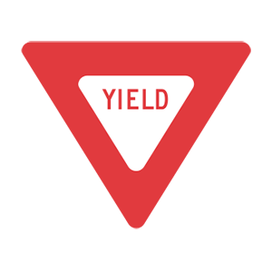 At an intersection with a yield sign, you should: